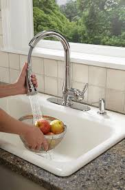 grohe faucet kitchen grohe 30216000 wexford single handle pull spray kitchen