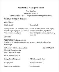 It Program Manager Resume 100 Sharepoint Project Manager Resume Manager Resume Template