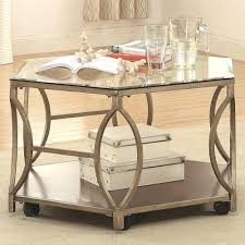 hexagon shaped kitchen table hexagon coffee table riverside furniture chevron w metal base shaped