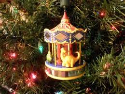 noma ornamotion rotating ornament dinosaur carousel 1989
