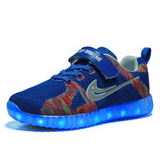 Kids Light Up Shoes Glowing Children Casual Shoes With Usb Rechargeable Kids Led Light