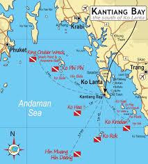 Bay Area Map Ko Lanta Area Map Kantiang Baykantiang Bay