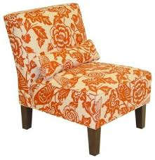 Traditional Armchairs Orange Accent Chair Facil Furniture