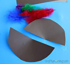 how to make turkey feathers turkey cone craft for kids to make party hat idea crafty morning
