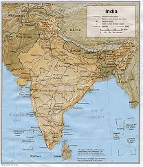 India On A Map A Map Of India