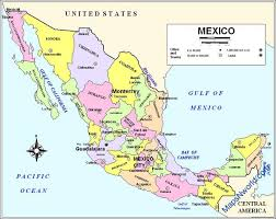 political map of mexico mexico
