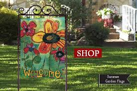 outdoor decorative garden flags how to prevent slipping