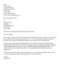 perfect warehouse supervisor cover letter example 67 on cover