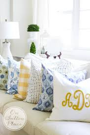 diy budget decorating with pillows on sutton place