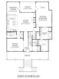 Large Open Floor Plans by House Plan 3247 A Edisto First Floor Elevated Design For Coastal