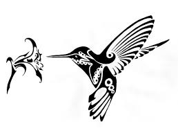 hummingbird and flowers tribal tattoo designs photos pictures