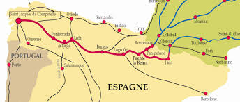 Camino Frances Map by El Camino Map Adriftskateshop