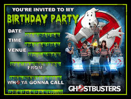 create own ghostbusters birthday invitations free ideas