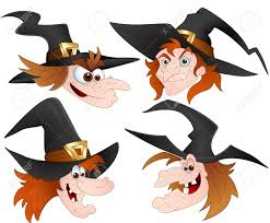 cartoon witch faces vectors royalty free cliparts vectors and