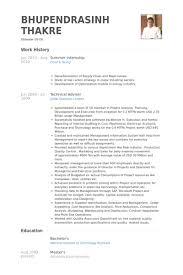 Mba Internship Resume Sample by Summer Internship Resume Samples Visualcv Resume Samples Database
