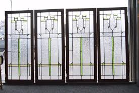 old glass doors antique arts u0026 crafts stained glass oak cabinet doors with ripple