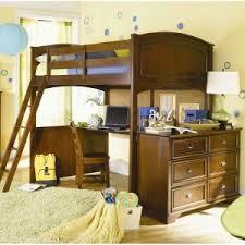 Bunk Bed Futon Desk Bedroom Large Floating Desk Twin Size Bed Over Bunk Wood Loft