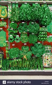 display of st s day ornaments at the city store in