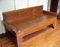 old chinese thai style teak daybed hardwood furniture colonial