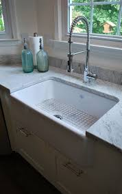 White Granite Kitchen Sink 5 Tips On Buying Farmhouse Sink White Granite Granite And Thunder