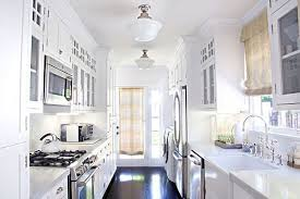 Traditional White Kitchen Images - stunning traditional galley kitchen with white kitchen cabinets