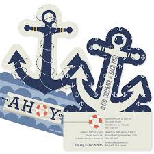 anchor baby shower ahoy nautical baby shower theme bigdotofhappiness