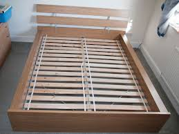 Hopen Bed Frame Ikea Ikea Hopen Oak Veneer King Bed Frame Slats In Swindon