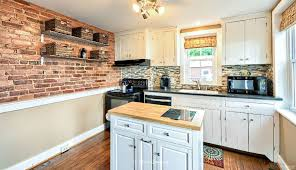 crosley butcher block top kitchen island traditional kitchen with one wall simple granite counters in
