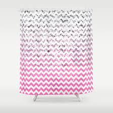 Pink Chevron Curtains Best Glitter Chevron Shower Curtain
