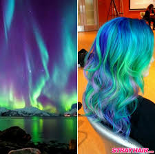 super colorful blue green purple northern lights aurora borealis super bright