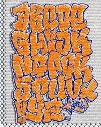 orange coloring sketches graffiti alphabet fonts digital graffiti
