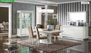 White Dining Room Set Dama Bianca Dining Room Set In White High Gloss Free Shipping