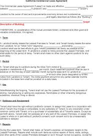 free lease agreement template for word printable sample rental