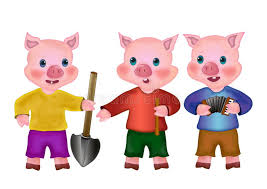 pigs stock illustration image fable 15141088
