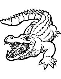 Coloriage  Crocodile avec la gueule ouverte  Coloriages à imprimer