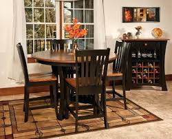 amish round dining table with leaf choice amish round dining table