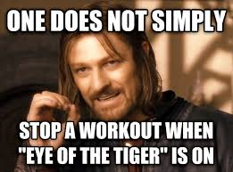 Eye Of The Tiger Meme - i only have one rule rebrn com