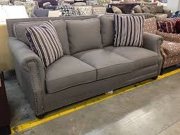 Gray Nailhead Sofa King Hickory Grey Julianna Sofa With Black Nickel Nailhead Trim
