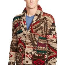 polo ralph lauren wool blend cardigan in red for men lyst