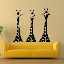Dining Room Decals Wall Decals Giraffe Animals Jungle Safari African Kids Children