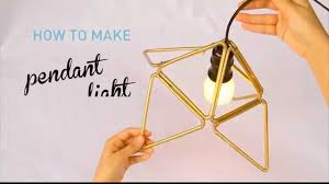 Geometric Pendant Light by How To Make Plastic Straw Pendant Light With Triangle Modular