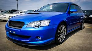 japan car auction 2005 subaru legacy touring gt spec b sti youtube