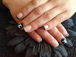 full set of acrylic nails with free hand nail art swarofs u2026 flickr