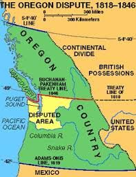 map of oregon country 1846 donation land claim act spur to american settlement of oregon
