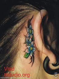 star tattoos behind ear star tattoos design