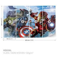 wall mural photo wallpaper xxl marvel avengers team 3363ws ebay wall mural photo wallpaper xxl marvel avengers team