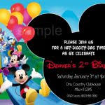 mickey mouse clubhouse birthday invitation template free printable