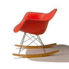 Red Rocking Chairs Eames Molded Plastic Rocker Chair U0026 Eames Rocker Chairs Yliving