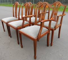 Yew Dining Table And Chairs Set Of Six Yew Dining Chairs In Antique Georgian Style