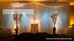 wedding backdrop with lights wedding draperies